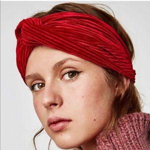 Zara Velvet Headband NWOT